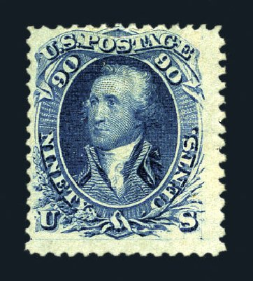 Value of US Stamps Scott # 72 - 90c 1861 Washington. Harmer-Schau Auction Galleries, Aug 2015, Sale 106, Lot 1405