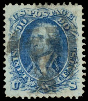 Prices of US Stamps Scott # 72 - 90c 1861 Washington. Daniel Kelleher Auctions, May 2015, Sale 669, Lot 2515