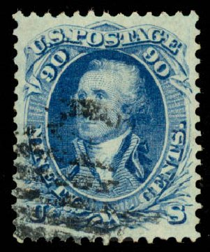 Costs of US Stamps Scott #72: 1861 90c Washington. Daniel Kelleher Auctions, Aug 2015, Sale 672, Lot 2265