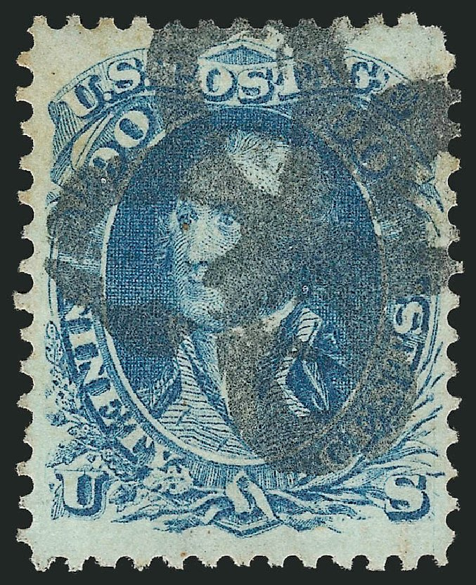 Cost of US Stamp Scott Catalogue #72: 1861 90c Washington. Robert Siegel Auction Galleries, Apr 2015, Sale 1096, Lot 142