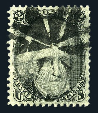 Values of US Stamp Scott Catalogue 73 - 2c 1861 Jackson. Harmer-Schau Auction Galleries, Aug 2015, Sale 106, Lot 1407