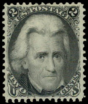 Values of US Stamp Scott Catalogue 73: 1861 2c Jackson. Daniel Kelleher Auctions, May 2015, Sale 669, Lot 2517