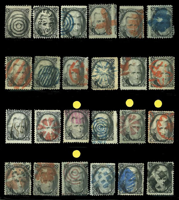 Values of US Stamp Scott 73 - 2c 1861 Jackson. Harmer-Schau Auction Galleries, Aug 2015, Sale 106, Lot 1409