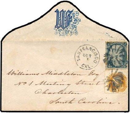 US Stamp Values Scott Catalogue #73 - 1861 2c Jackson. Schuyler J. Rumsey Philatelic Auctions, Apr 2015, Sale 60, Lot 1839