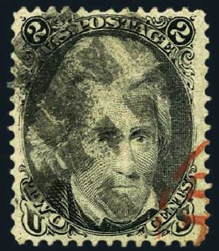US Stamps Value Scott Cat. # 73 - 1861 2c Jackson. Harmer-Schau Auction Galleries, May 2015, Sale 105, Lot 111