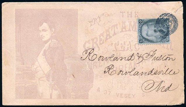 Prices of US Stamp Scott Catalogue 73 - 1861 2c Jackson. Schuyler J. Rumsey Philatelic Auctions, Apr 2015, Sale 60, Lot 1831