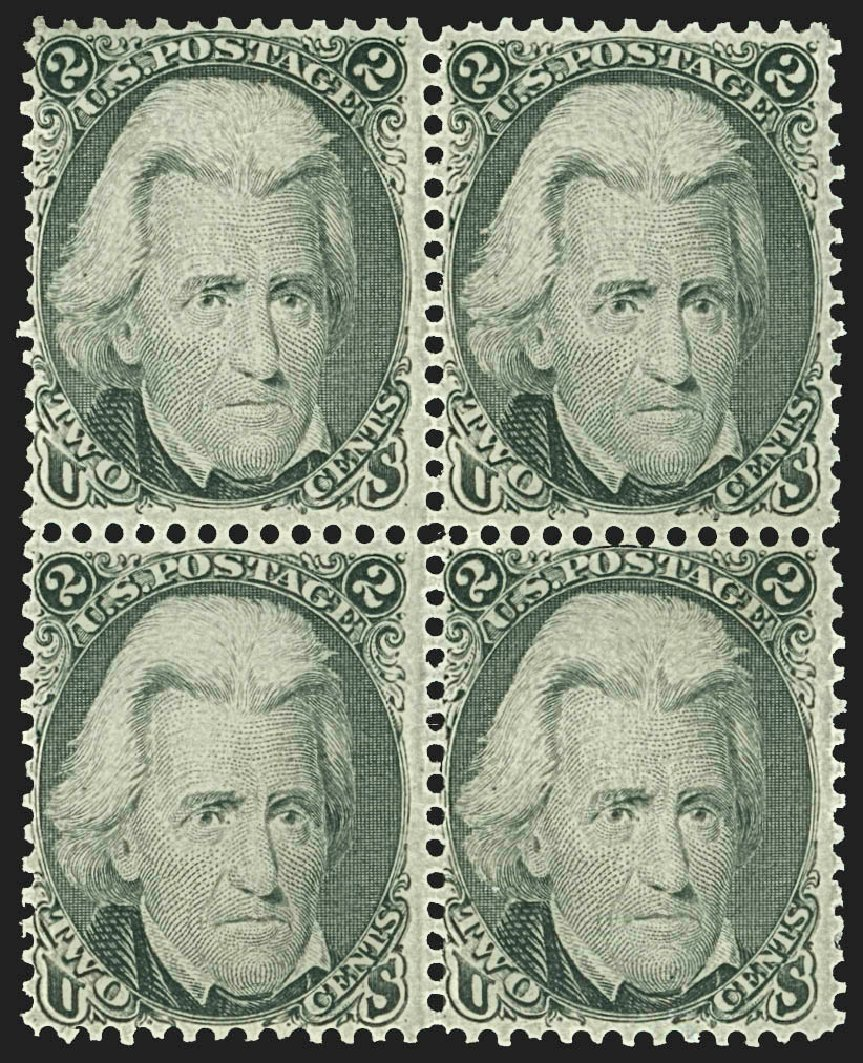 Values of US Stamp Scott Catalog # 73: 1861 2c Jackson. Robert Siegel Auction Galleries, Jul 2015, Sale 1107, Lot 134