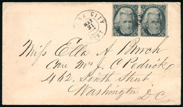 Cost of US Stamp Scott Catalogue 73: 1861 2c Jackson. Schuyler J. Rumsey Philatelic Auctions, Apr 2015, Sale 60, Lot 1845
