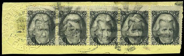 Prices of US Stamp Scott Catalogue #73 - 2c 1861 Jackson. Harmer-Schau Auction Galleries, May 2015, Sale 105, Lot 112