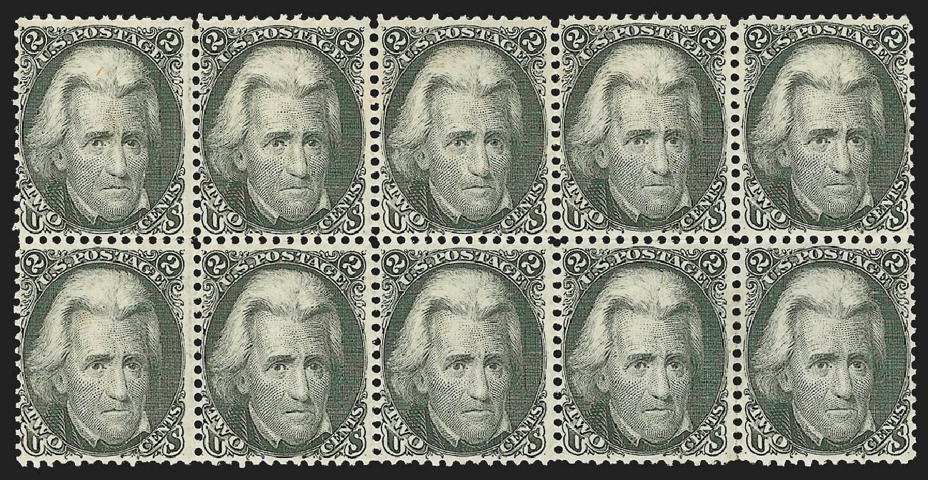 Price of US Stamps Scott Catalog #73: 2c 1861 Jackson. Robert Siegel Auction Galleries, Jul 2015, Sale 1107, Lot 132