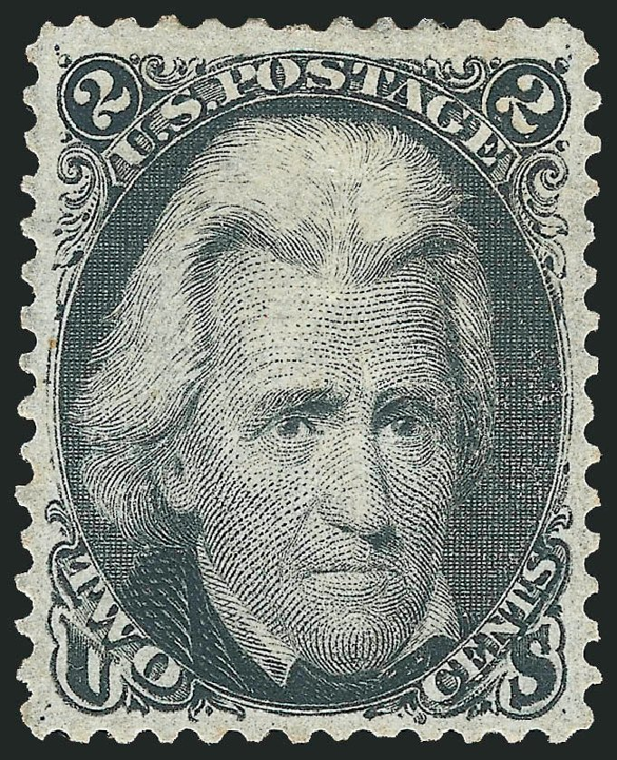 US Stamp Value Scott Cat. # 73: 2c 1861 Jackson. Robert Siegel Auction Galleries, Jun 2015, Sale 1100, Lot 13