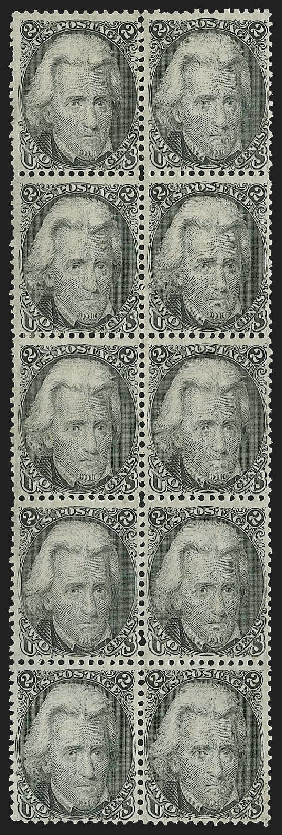 Costs of US Stamps Scott # 73: 1861 2c Jackson. Robert Siegel Auction Galleries, Jul 2015, Sale 1107, Lot 133