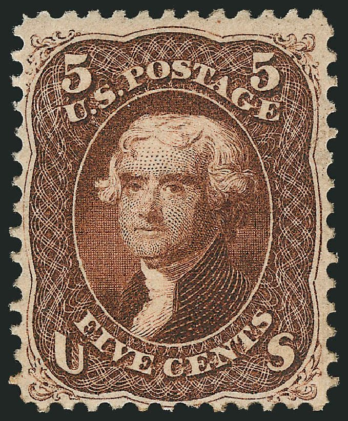 Prices of US Stamps Scott Catalogue # 75: 5c 1862 Jefferson. Robert Siegel Auction Galleries, Apr 2015, Sale 1096, Lot 147