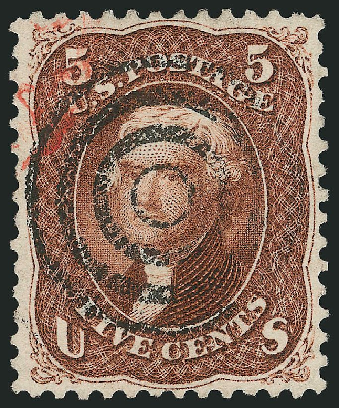 Value of US Stamps Scott Cat. #75 - 5c 1862 Jefferson. Robert Siegel Auction Galleries, Apr 2015, Sale 1096, Lot 148