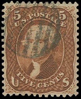 Price of US Stamp Scott Cat. #75 - 5c 1862 Jefferson. H.R. Harmer, Oct 2014, Sale 3006, Lot 1111