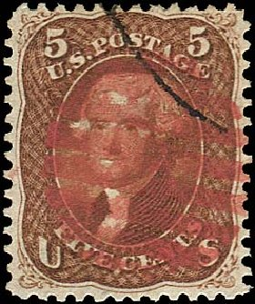 Cost of US Stamps Scott # 75 - 1862 5c Jefferson. Regency-Superior, Jan 2015, Sale 109, Lot 671