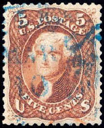 US Stamp Price Scott Catalog #75: 5c 1862 Jefferson. Schuyler J. Rumsey Philatelic Auctions, Apr 2015, Sale 60, Lot 2045