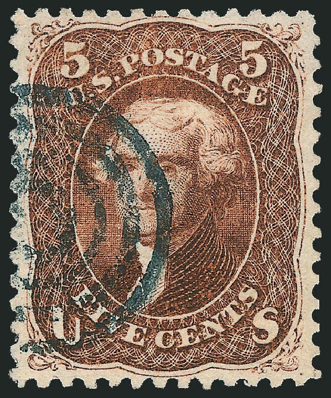 US Stamps Values Scott Catalog #75: 5c 1862 Jefferson. Robert Siegel Auction Galleries, Feb 2015, Sale 1092, Lot 1063