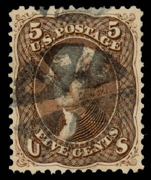 US Stamp Prices Scott Cat. 76 - 5c 1863 Jefferson. Daniel Kelleher Auctions, Aug 2015, Sale 672, Lot 2268