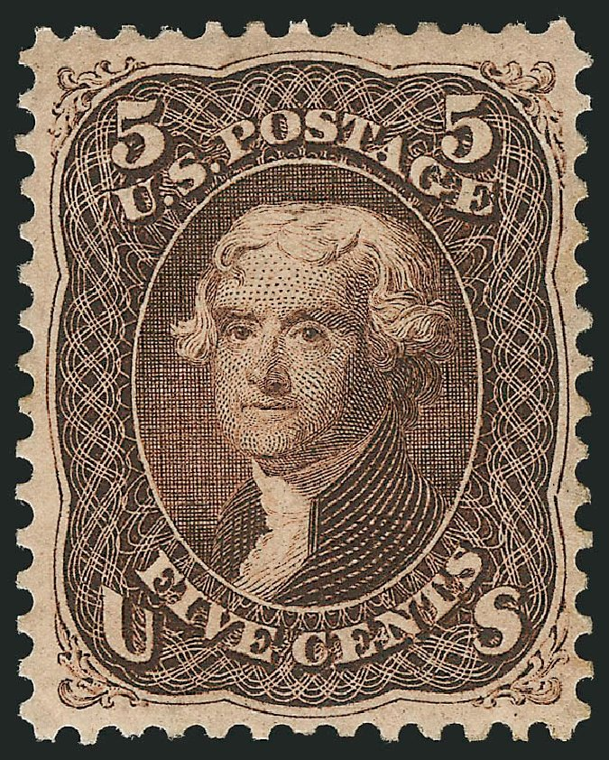 US Stamp Price Scott Catalog # 76: 1863 5c Jefferson. Robert Siegel Auction Galleries, Apr 2015, Sale 1096, Lot 149