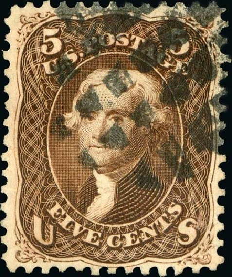 Prices of US Stamps Scott Cat. 76: 1863 5c Jefferson. Spink Shreves Galleries, Jan 2015, Sale 150, Lot 81