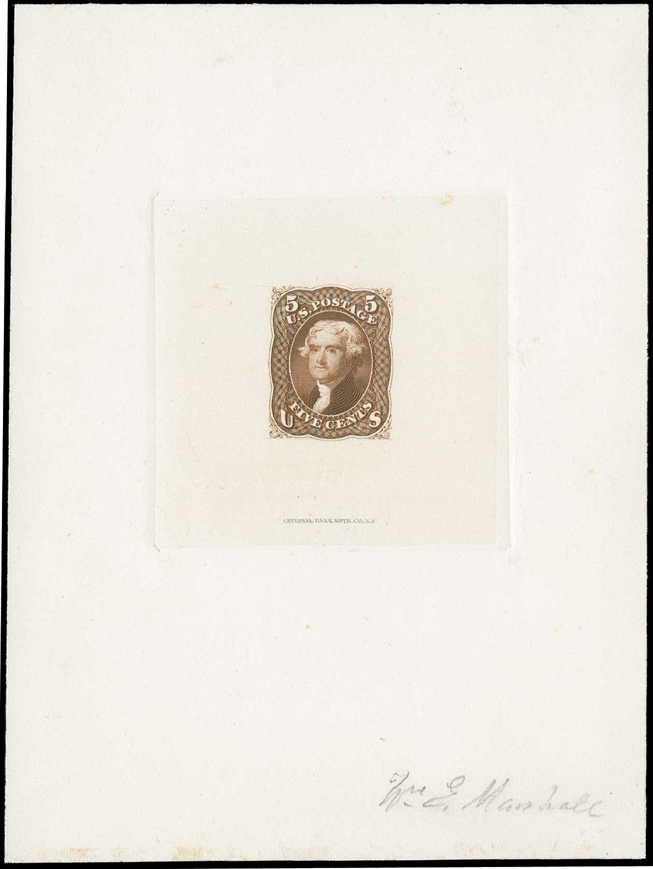 Cost of US Stamp Scott Cat. #76: 5c 1863 Jefferson. H.R. Harmer, Jun 2015, Sale 3007, Lot 3024