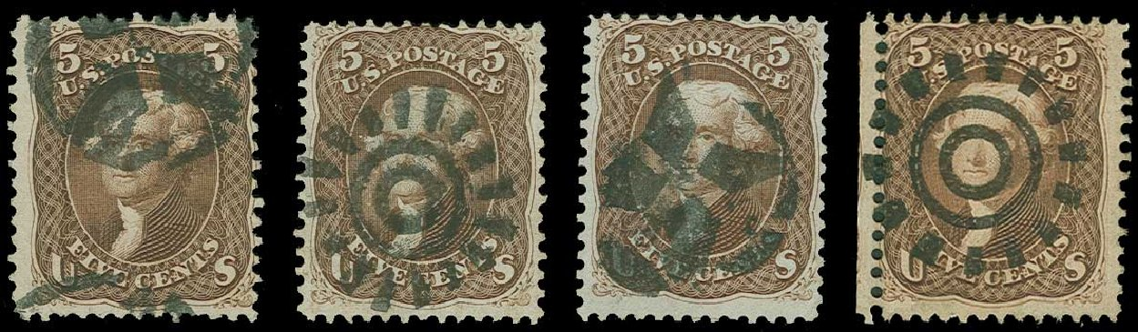 US Stamps Prices Scott Cat. #76: 5c 1863 Jefferson. H.R. Harmer, Jun 2015, Sale 3007, Lot 3145