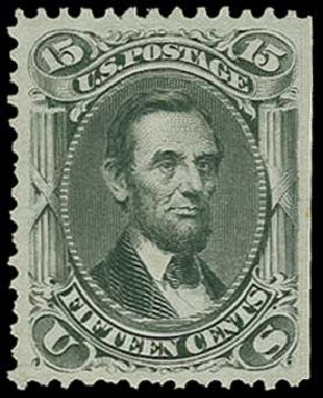 Prices of US Stamp Scott #77 - 1866 15c Lincoln. H.R. Harmer, Jun 2015, Sale 3007, Lot 3147
