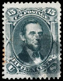 Price of US Stamps Scott Catalogue #77: 15c 1866 Lincoln. Schuyler J. Rumsey Philatelic Auctions, Apr 2015, Sale 60, Lot 2047