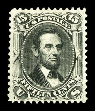 Prices of US Stamp Scott Catalogue 77 - 1866 15c Lincoln. Cherrystone Auctions, Jul 2015, Sale 201507, Lot 2038