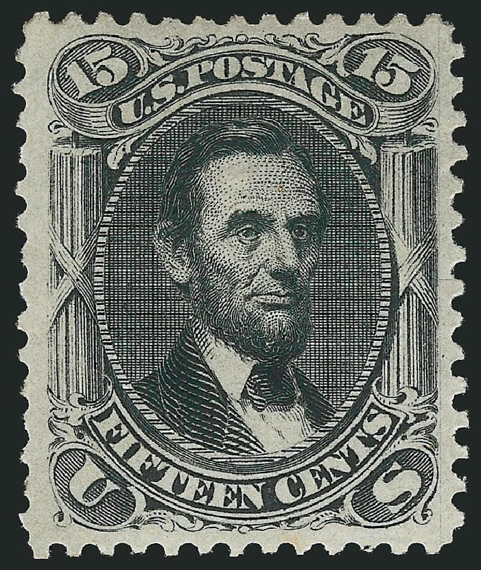 Costs of US Stamp Scott Catalog # 77 - 15c 1866 Lincoln. Robert Siegel Auction Galleries, Apr 2015, Sale 1096, Lot 150