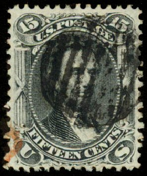 Value of US Stamps Scott 77: 1866 15c Lincoln. Daniel Kelleher Auctions, Aug 2015, Sale 672, Lot 2271