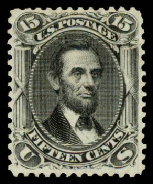 Cost of US Stamps Scott Catalog # 77 - 1866 15c Lincoln. Daniel Kelleher Auctions, May 2015, Sale 669, Lot 2523