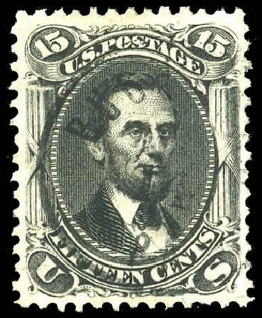 Values of US Stamps Scott Cat. # 77: 15c 1866 Lincoln. Matthew Bennett International, Feb 2015, Sale 351, Lot 76
