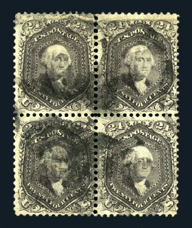 Prices of US Stamp Scott Catalog #78 - 1862 24c Washington. Harmer-Schau Auction Galleries, Aug 2015, Sale 106, Lot 1417