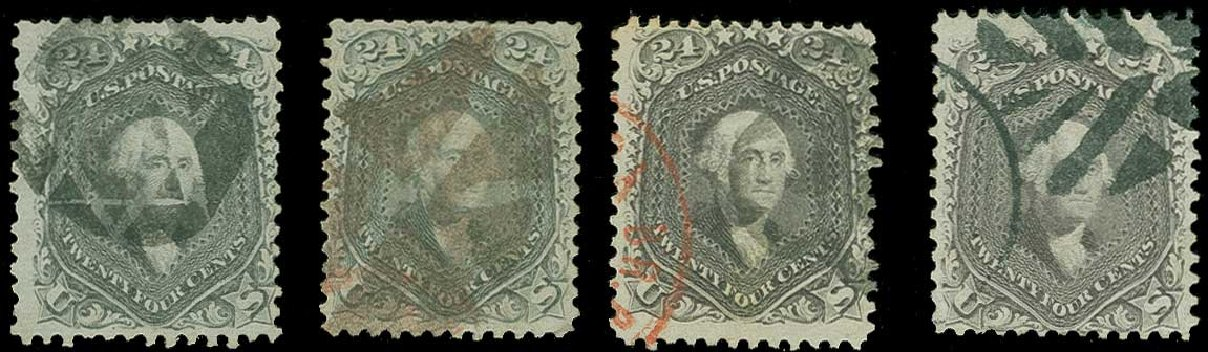 Costs of US Stamp Scott Cat. 78 - 1862 24c Washington. H.R. Harmer, Jun 2015, Sale 3007, Lot 3148