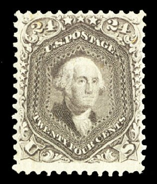 US Stamp Value Scott Cat. # 78: 24c 1862 Washington. Cherrystone Auctions, Jul 2015, Sale 201507, Lot 2039