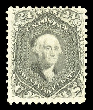 US Stamps Value Scott #78 - 1862 24c Washington. Cherrystone Auctions, Jul 2015, Sale 201507, Lot 2040