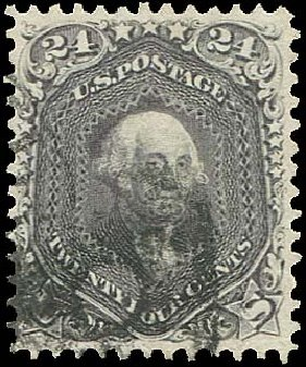 US Stamps Price Scott Cat. #78 - 24c 1862 Washington. Regency-Superior, Aug 2015, Sale 112, Lot 180