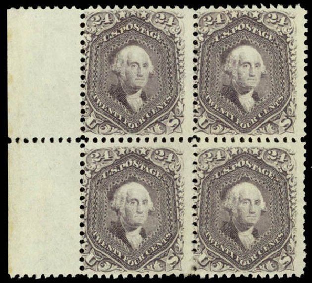 US Stamp Prices Scott Catalogue #78 - 24c 1862 Washington. Daniel Kelleher Auctions, Aug 2015, Sale 672, Lot 2272