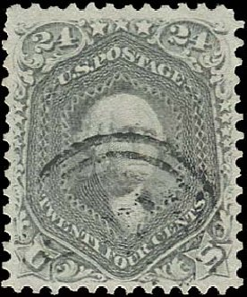 US Stamp Values Scott 78 - 1862 24c Washington. Regency-Superior, Aug 2015, Sale 112, Lot 182