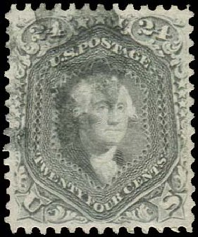 US Stamp Value Scott Catalog 78 - 24c 1862 Washington. Regency-Superior, Aug 2015, Sale 112, Lot 183