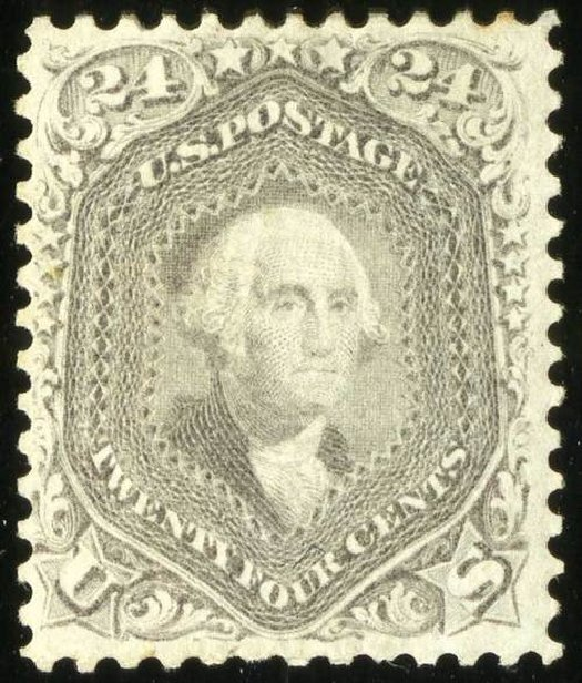 Values of US Stamp Scott Catalogue #78: 24c 1862 Washington. Spink Shreves Galleries, Jul 2015, Sale 151, Lot 76