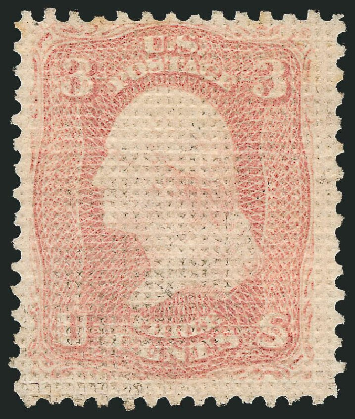Cost of US Stamps Scott # 79: 3c 1867 Washington Grill. Robert Siegel Auction Galleries, Jun 2015, Sale 1100, Lot 17