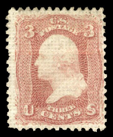 US Stamp Value Scott Cat. #79: 1867 3c Washington Grill. Cherrystone Auctions, Nov 2014, Sale 201411, Lot 19