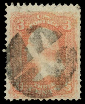 US Stamps Price Scott Cat. # 79 - 3c 1867 Washington Grill. Daniel Kelleher Auctions, May 2015, Sale 669, Lot 2529