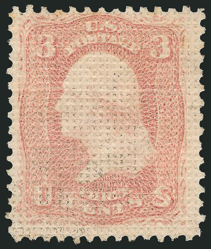 US Stamp Value Scott Catalog #79: 3c 1867 Washington Grill. Robert Siegel Auction Galleries, Dec 2014, Sale 1090, Lot 1214