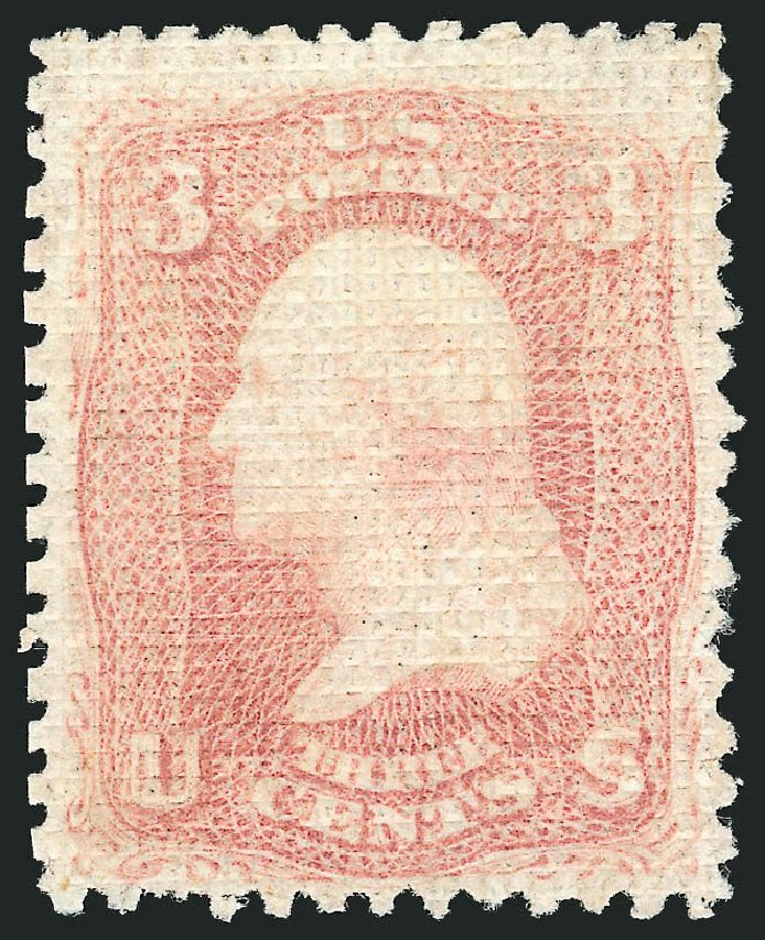 US Stamp Price Scott Catalogue #79: 1867 3c Washington Grill. Robert Siegel Auction Galleries, Dec 2014, Sale 1090, Lot 1215