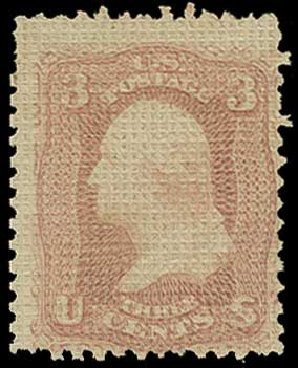 Cost of US Stamps Scott #79 - 3c 1867 Washington Grill. H.R. Harmer, Jun 2015, Sale 3007, Lot 3156