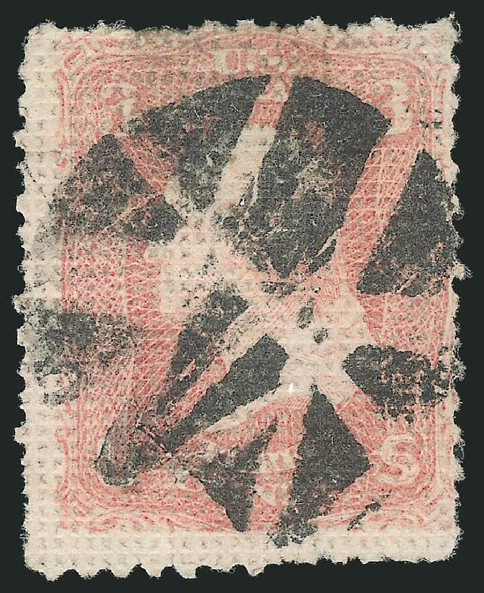 US Stamp Values Scott Catalogue # 79: 3c 1867 Washington Grill. Robert Siegel Auction Galleries, Dec 2014, Sale 1090, Lot 1216